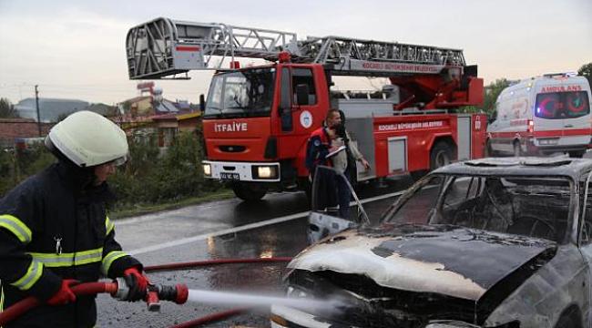 Sürücü Çakmağı Çaktı, LPG'li Otomobil Alev Aldı