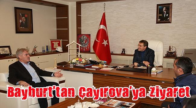 Bayburt Belediye Başkanı Mete Memiş, Demirci'yi ziyaret etti