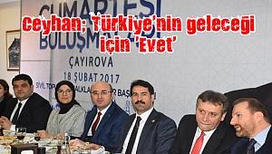 Ceyhan; Türkiye'nin geleceği için 'Evet'