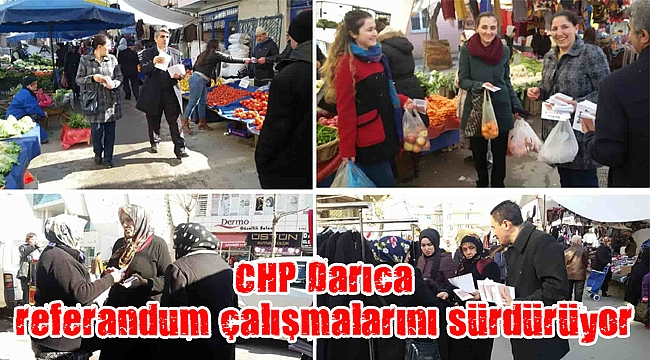 CHP Darıca referandum çalışmalarını sürdürüyor