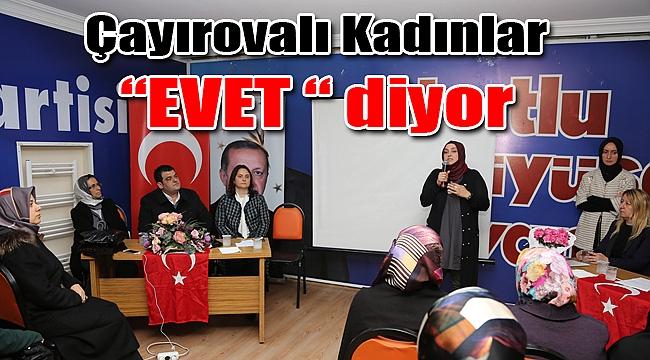 AK Parti Kocaeli Kadın Kolları referandum çalışmalarına devam ediyor
