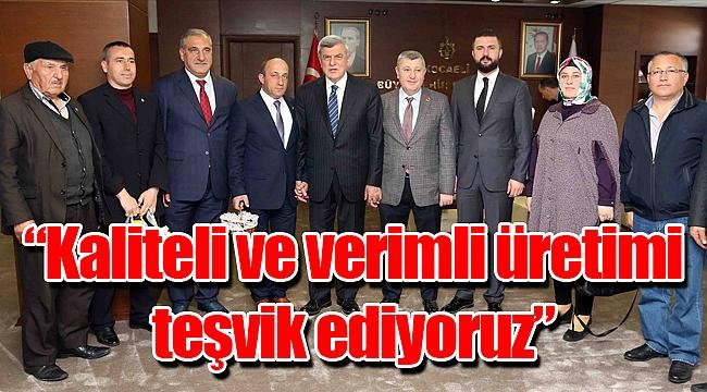 Başkan Karaosmanoğlu, Gebze Ziraat Odası ile bir araya geldi