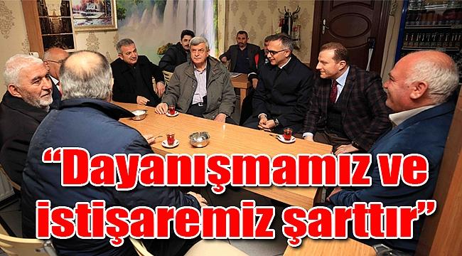 Başkan Karaosmanoğlu, vatandaşlarla bir araya geldi