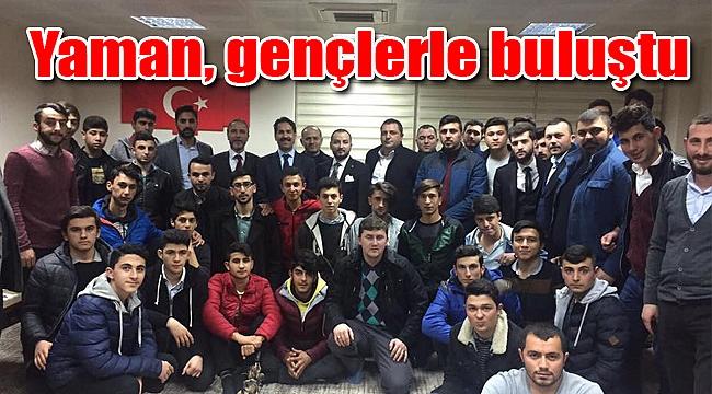 Cemil Yaman, Gebze'de gençlerle buluştu