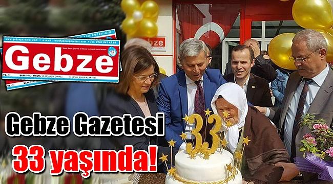 Gebze Gazetesi 33 yaşında!