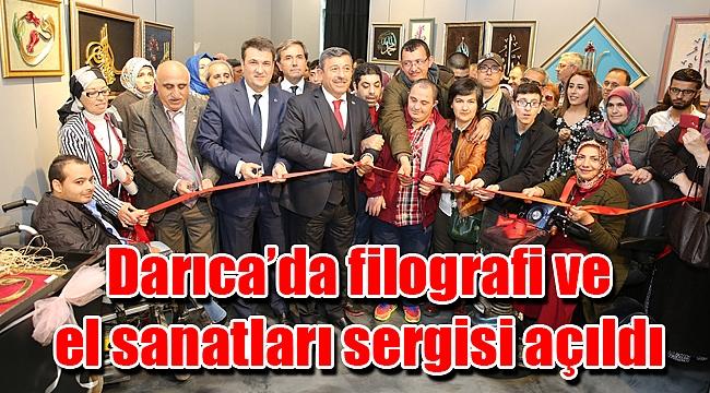 Darıca'da filografi ve el sanatları sergisi açıldı