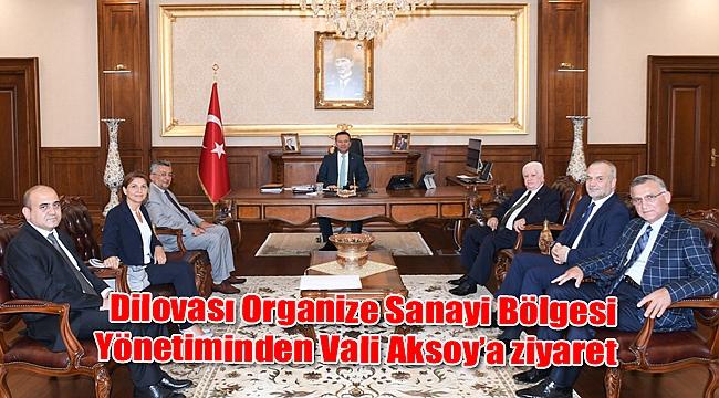 Dilovası Organize Sanayi Bölgesi Yönetiminden Vali Aksoy'a ziyaret