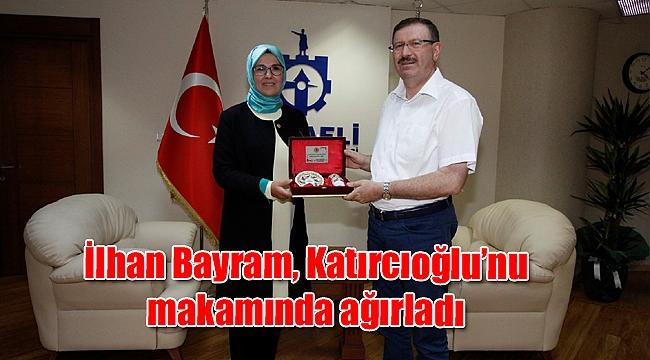 İlhan Bayram, Katırcıoğlu'nu makamında ağırladı
