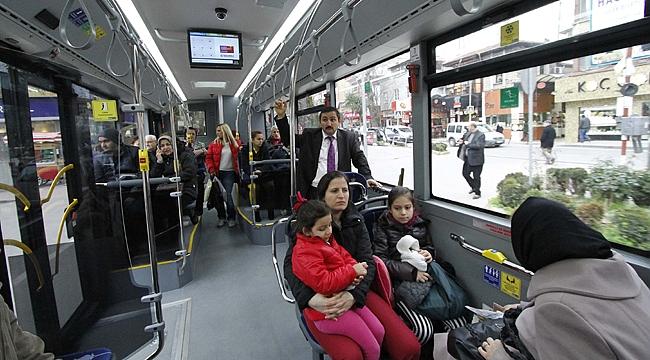 Toplu Taşıma ile bir günde 89 bin 407 kişi taşındı
