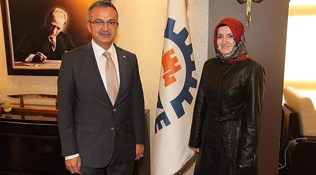 Aday Uzuner'in Köşker ziyareti