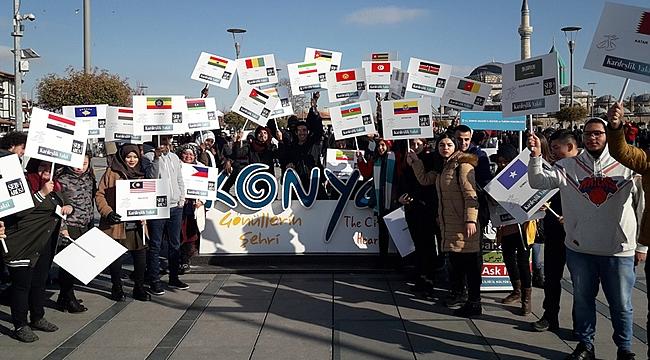 """""""Gel'' çağrısına uluslararası öğrencilerden yanıt"""