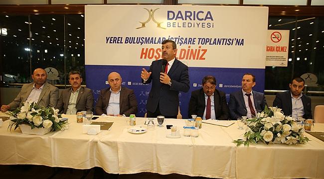 Karabacak dernek başkanlarını ağırladı