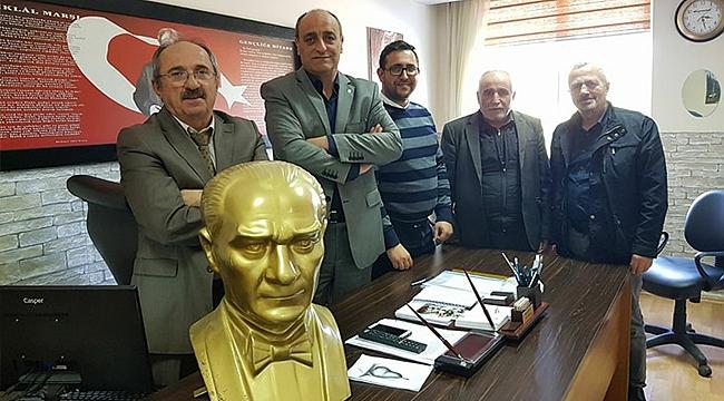 CHP'den okula Atatürk büstü