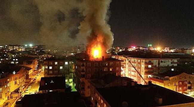 Tatlıkuyu'da korkutan yangın