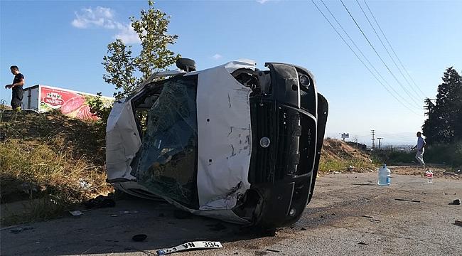 Piknik dönüşü kaza; 1 ölü 5 yaralı