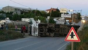Muallimköy'de korkutan kaza