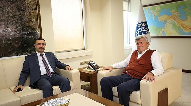 Karaosmanoğlu, Başsavcı Korkmaz'ı konuk etti