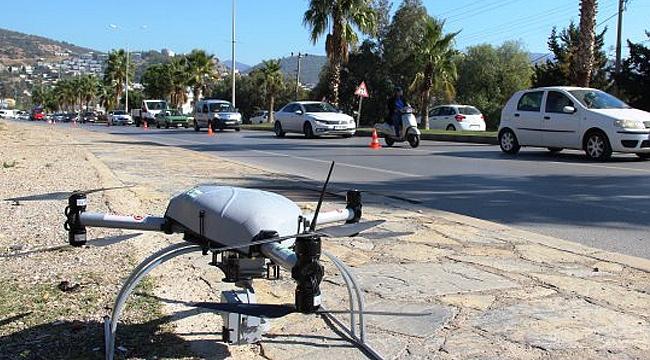 Muğla'da drone'lu trafik denetimi