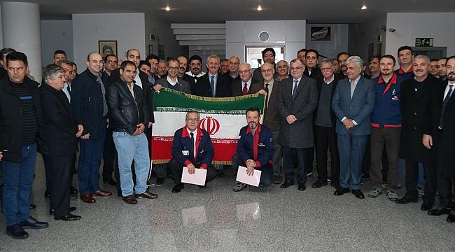 İran heyeti Gebze'ye geldi