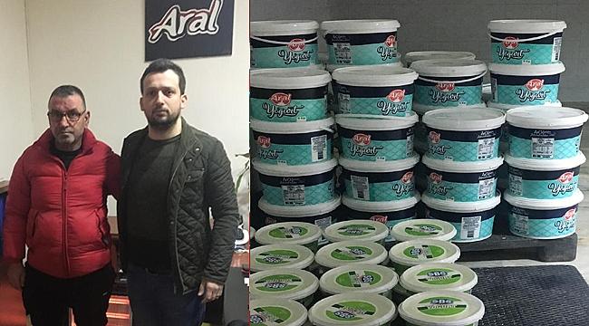 Gebzespor'a yoğurtlar Aral Çiftliği'nden