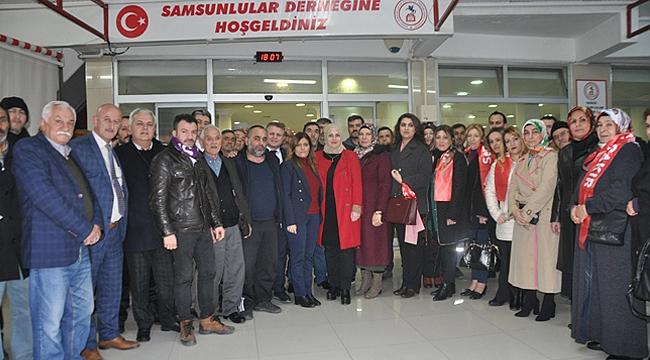 Samsunlular'dan Çakır'a büyük destek