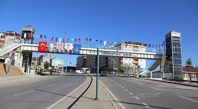 Gebze'de Hünkar Üst Geçidi kullanıma açıldı