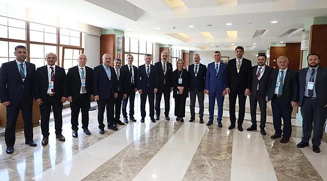 Başkanlar Erdoğan'ı dinledi
