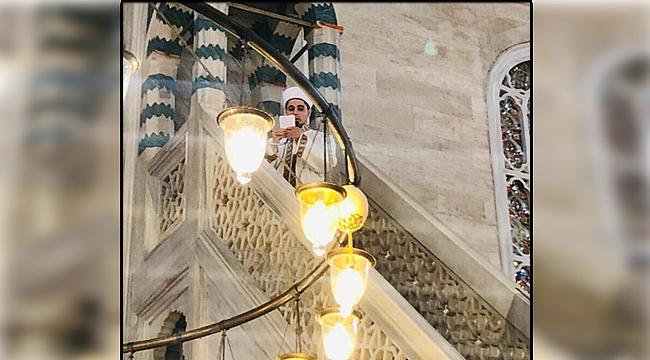 Genç, Süleymaniye'de minbere çıktı