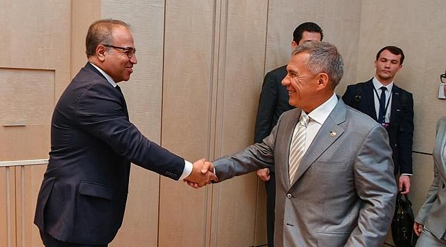 Yıldırım, Tataristan Cumhurbaşkanı'yla buluştu