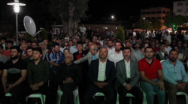 Başkan Büyükgöz, Milli maçı Gebzelilerle izledi