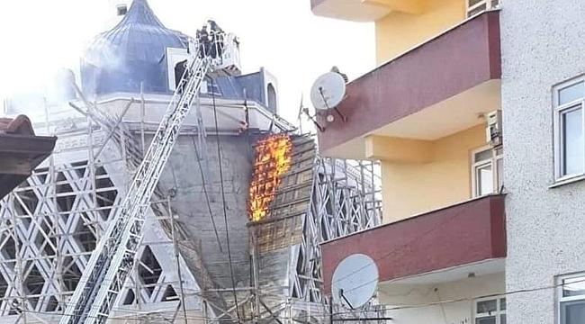Bitmeyen camide yangın çıktı