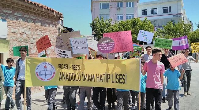 Gebze Anadolu İmam Hatip'ten çevre operasyonu