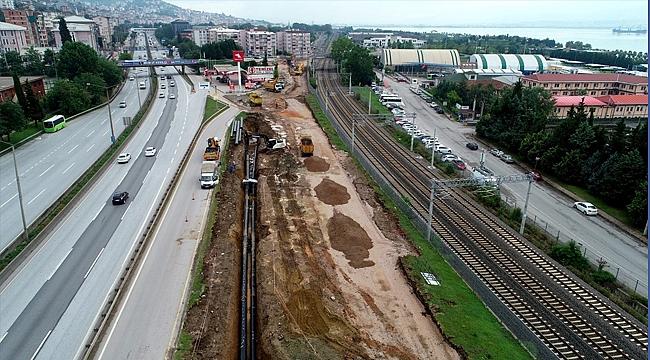 Yeni tramvay hattında çalışma sürüyor