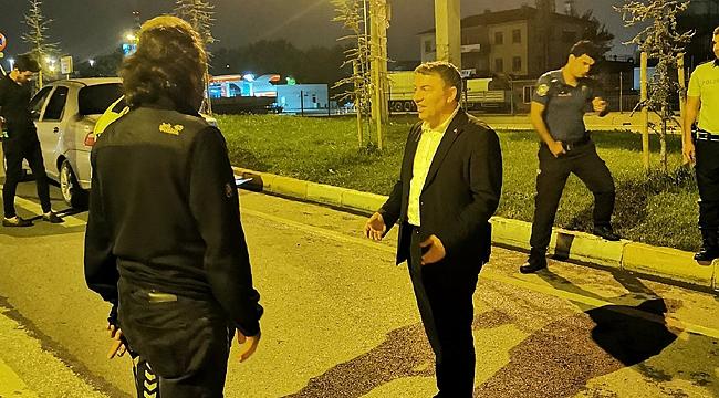 Hamza Şayir'den gece ziyareti