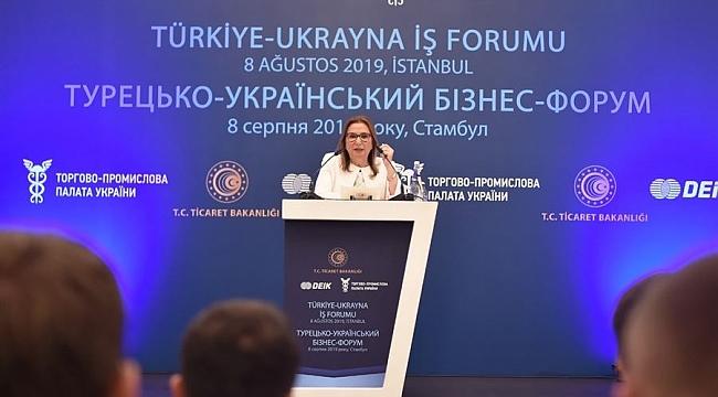 Pekcan, Türkiye-Ukrayna İş Forumu'nda konuştu