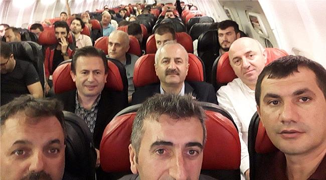 Başkanlar Erzurum yolunda