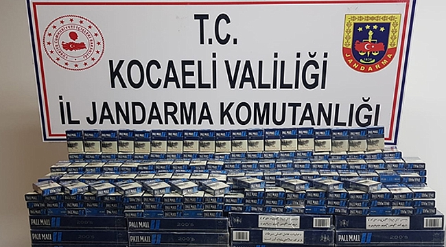 Kaçak sigara ticaretine Gebze'de darbe
