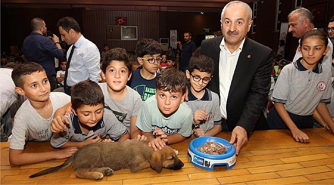 Gebzeli çocuklara hayvan sevgisi aşılandı