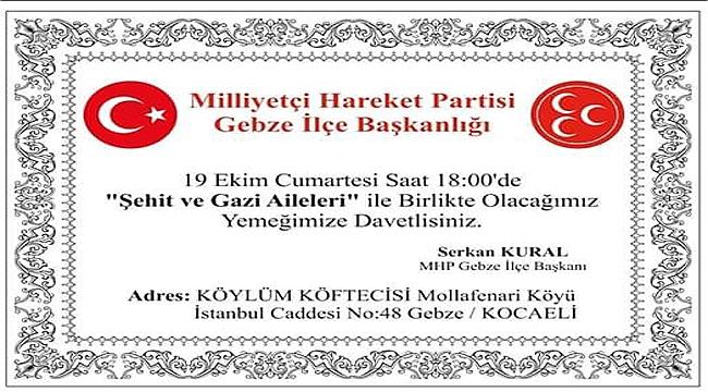 MHP Gebze, şehit ve gazi ailelerini ağırlayacak