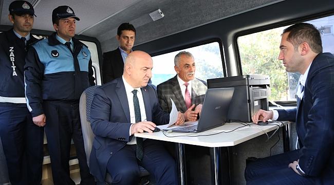 Darıca'da hizmet vatandaşın ayağına gidiyor