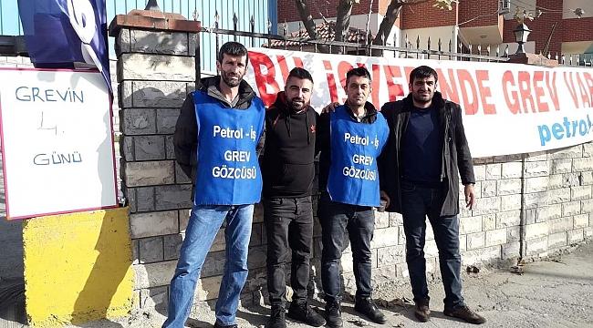 Gebze esnafından greve destek