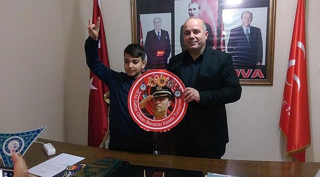 Genç sporcu madalyasını Düzdaban'a getirdi