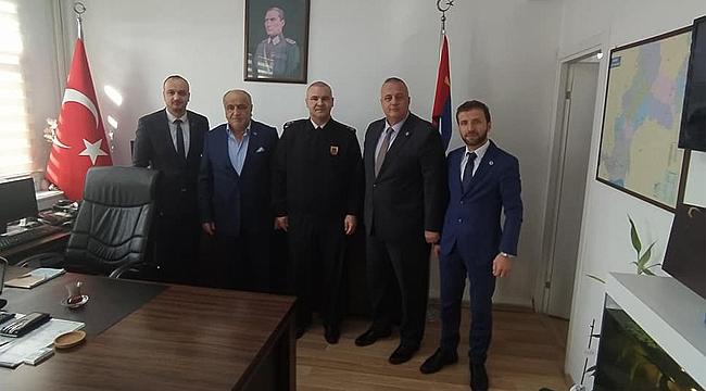 MHP Gebze'den Binbaşı Eke'ye ziyaret