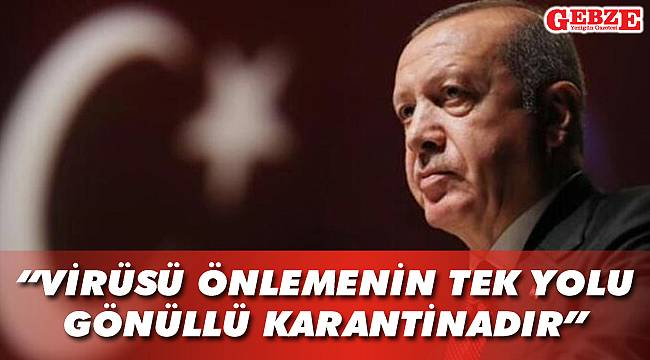 Erdoğan ulusa seslendi
