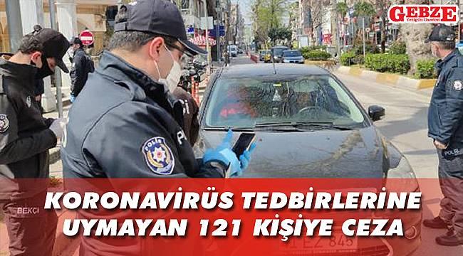 Koronavirüs tedbirlerine uymayan 121 kişiye ceza