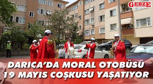 Darıca'da moral otobüsü, 19 Mayıs coşkusu yaşatıyor