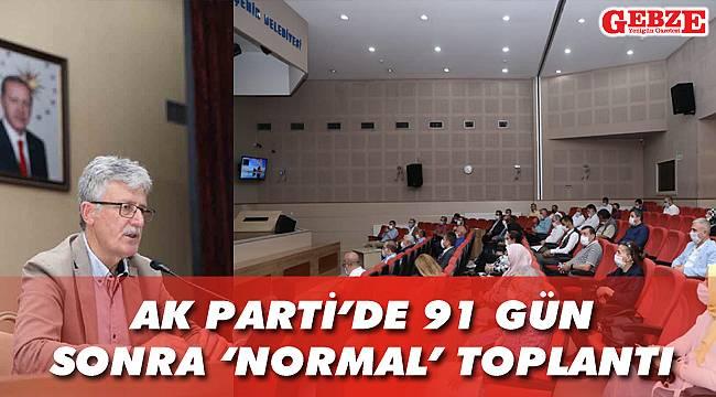 AK Parti'de 91 gün sonra 'normal' toplantı