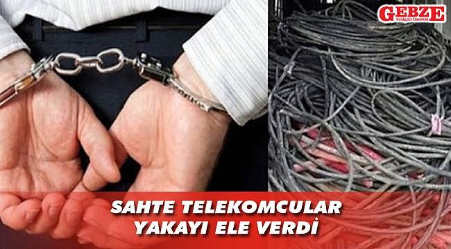 Çayırova'da kablo hırsızlığı yapmışlar