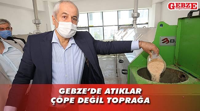 Gebze'nin kompost tesisi tam kapasite çalışıyor