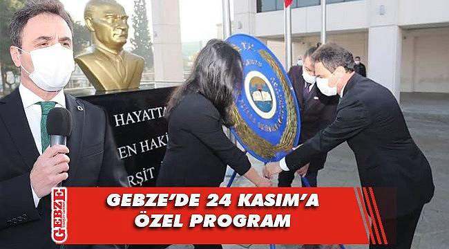 Gebze, 24 Kasım'ı kutladı